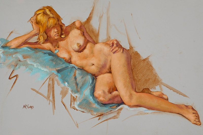 McComas_Jim_Woman_Reclining_on_a_Blue_Sheet_KS-7067